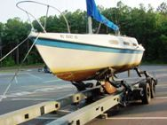 Sailboat Transport Hydraulic Trailer