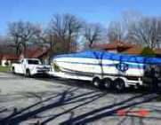Boat Hauling on Shippers Trailer