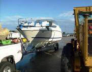 Bayliner Boat Transport at Port in Florida